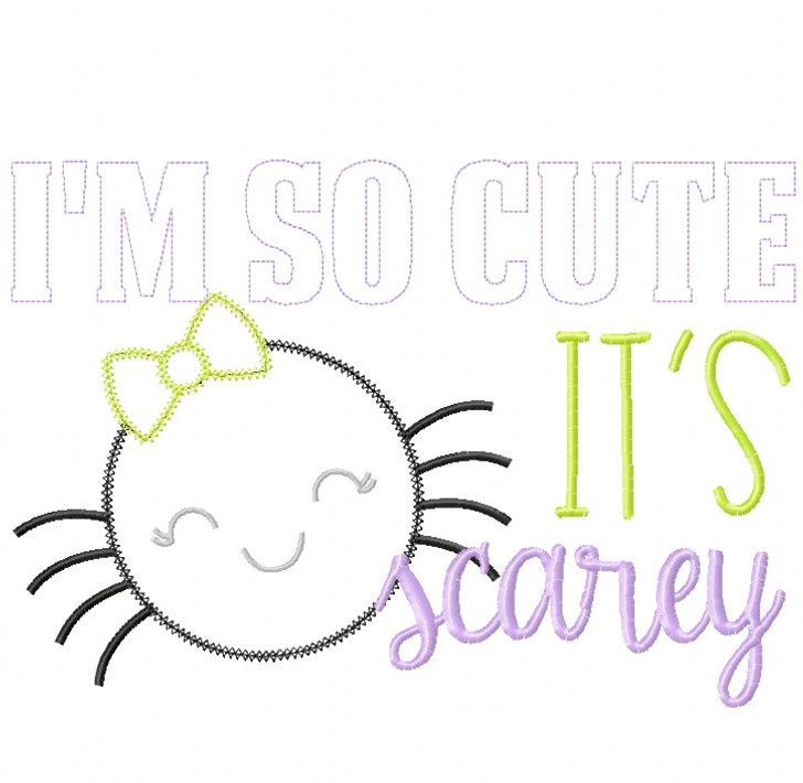 So Cute its Scarey Vintage and Chain Stitch Applique