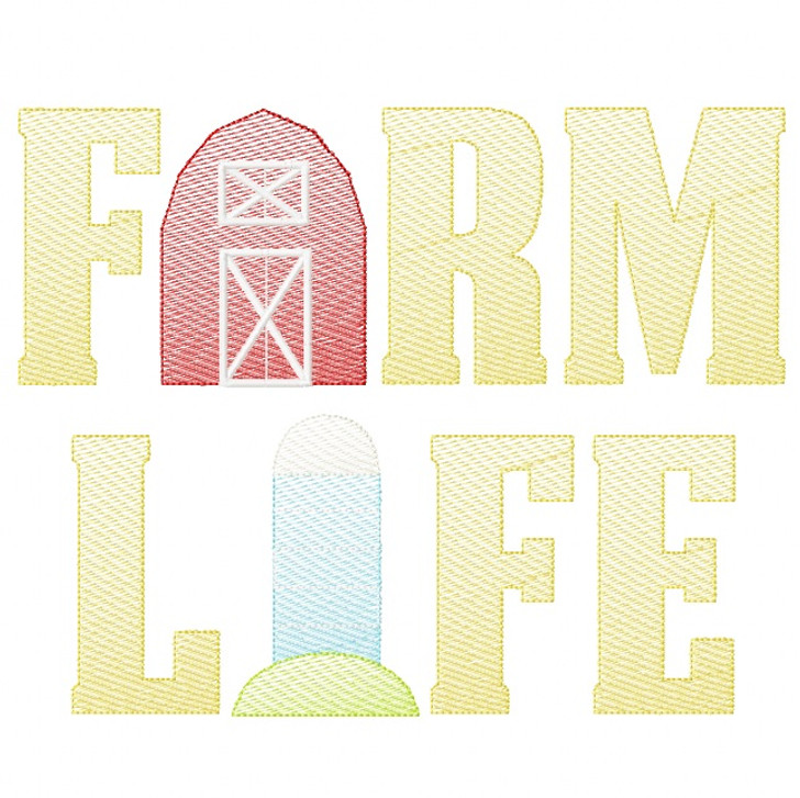 Farm Life 2 Sketch Embroidery