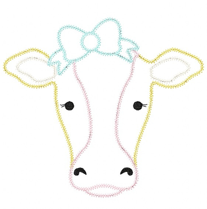Sweet Cow Vintage and Chain Stitch Applique