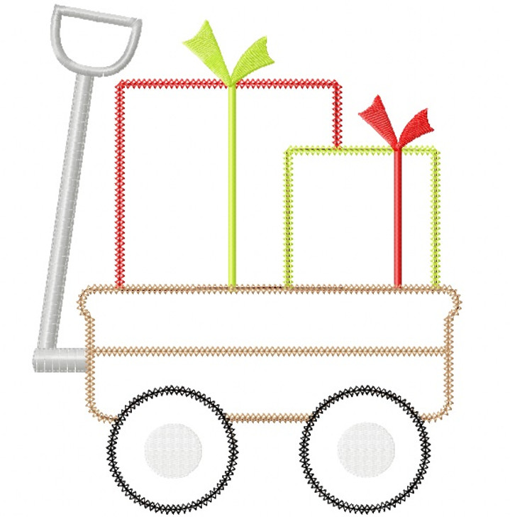 Gift Wagon Vintage and Chain Stitch Applique