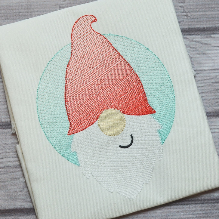 Gnome Patch Sketch Filled Stitch