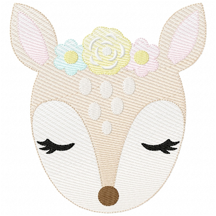Sweet Fawn Sketch Filled Stitch