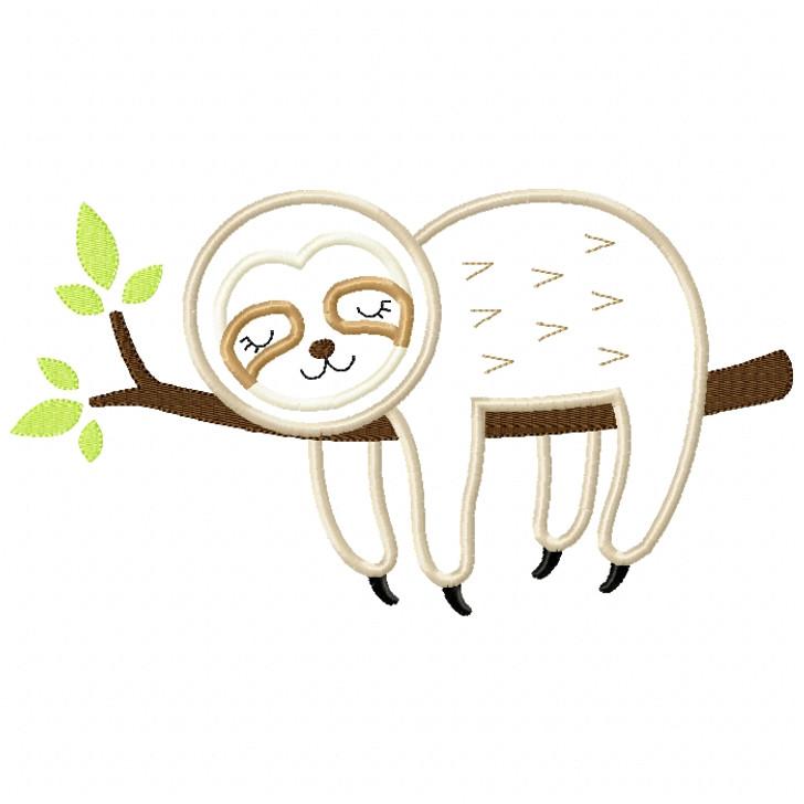 Sleeping Sloth Satin and ZigZag Stitch