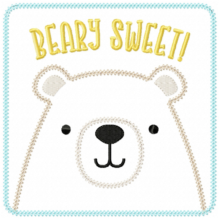 Beary Sweet Patch Vintage and Chain Stitch