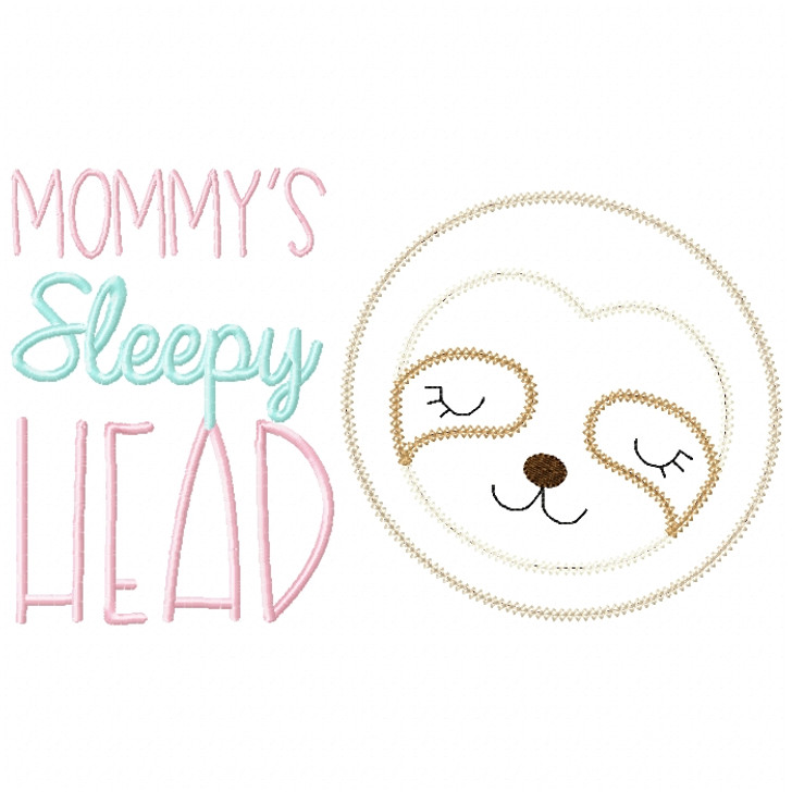 Sleepy Head Sloth Vintage and Chain Stitch