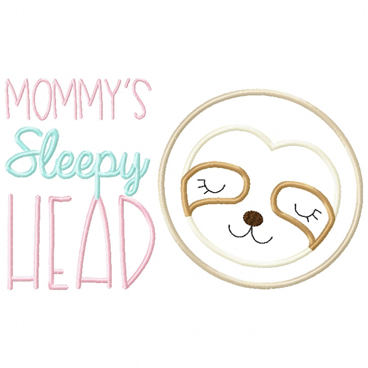 Sleepy Head Sloth Satin and ZigZag Stitch