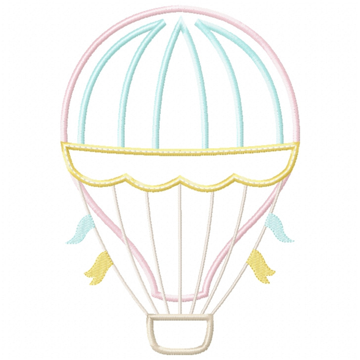 Hot Air Balloon 2 Satin and ZigZag Stitch