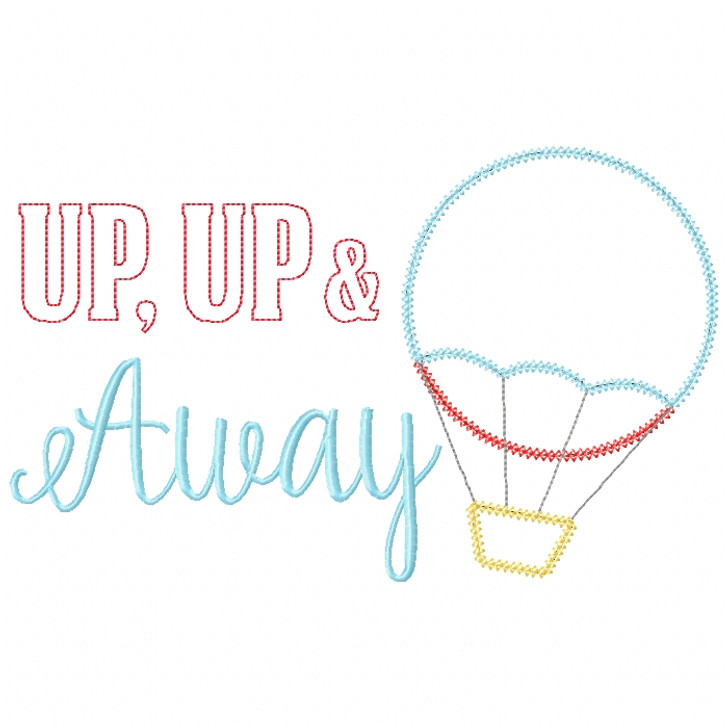 Up Up and Away Vintage and Chain Stitch