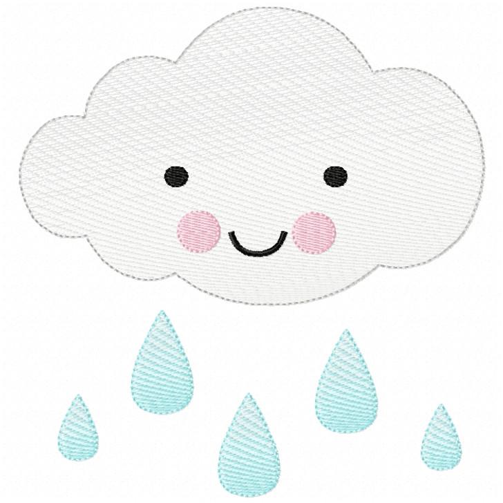 Raincloud Sketch Filled Stitch