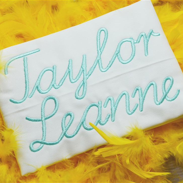 Taylor Embroidery Font