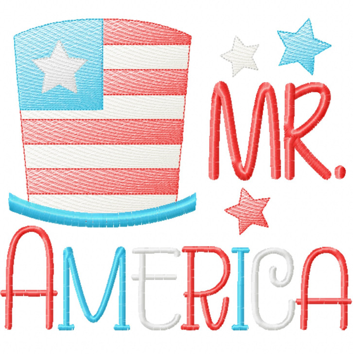 Mr America Sketch Applique