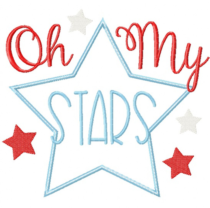 Oh My Stars Satin and Zigzag Applique