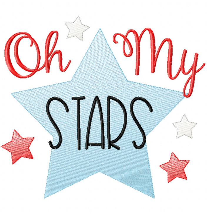 Oh My Stars Sketch Applique