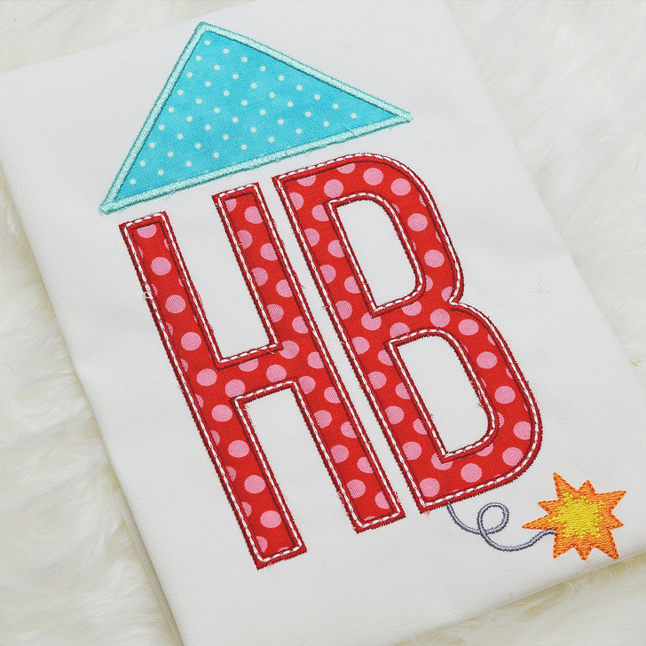 Firework Monogram Applique Alphabet
