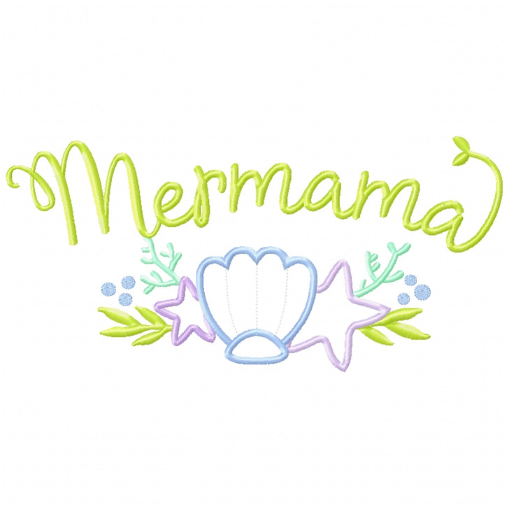 Mer-Mama Satin and Zigzag Applique