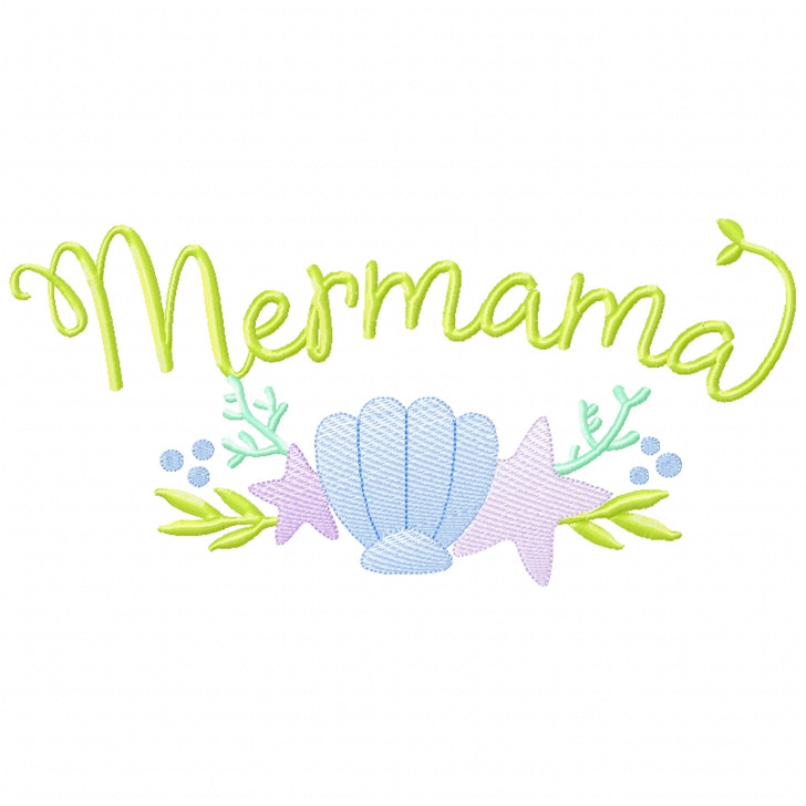 Mer-Mama Sketch Applique