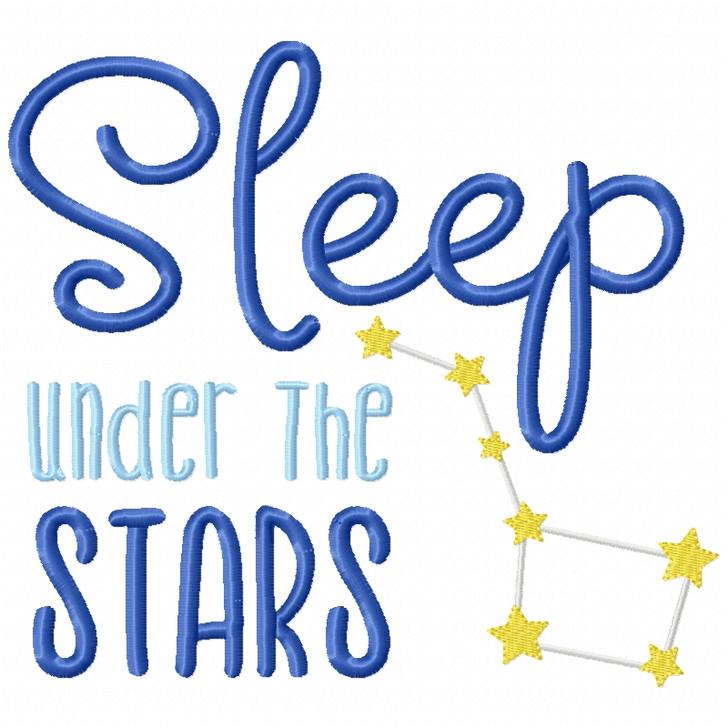 Sleep Under the Stars Filled Design