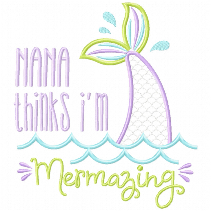 Nana Mermazing Satin and Zigzag Applique