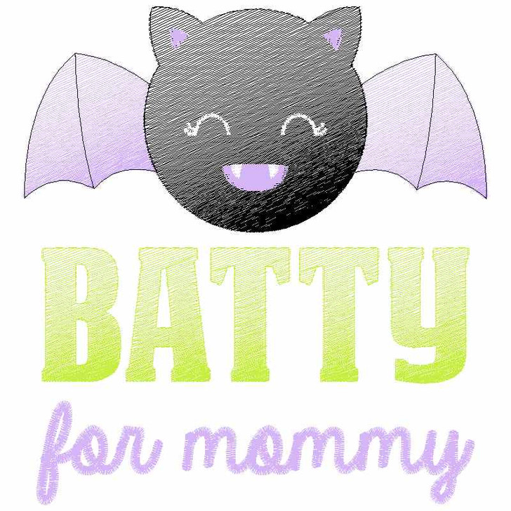 Batty for Mommy Sketch Applique
