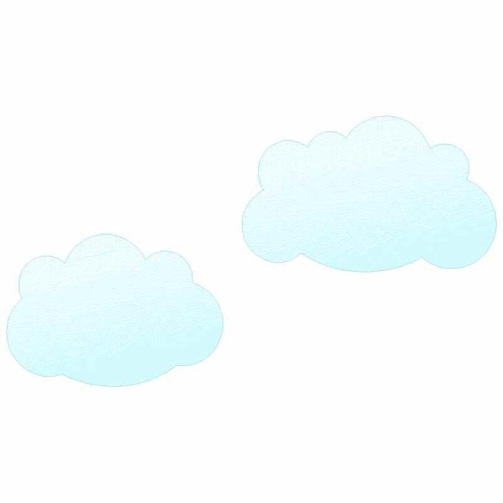 Cloud Set Sketch Applique