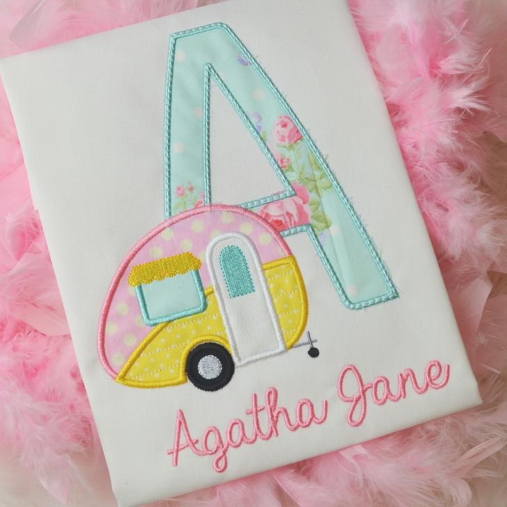 Happy Camper Applique Alphabet