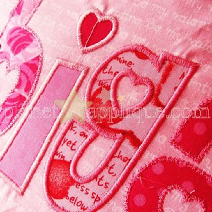 Valentine Applique Alphabet Font