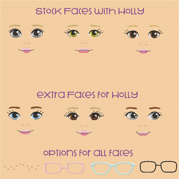3 Extra Faces For Holly Doll