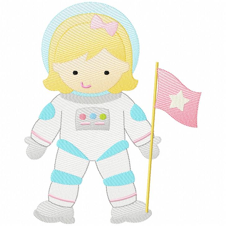 Astronaut Girl Sketch Design