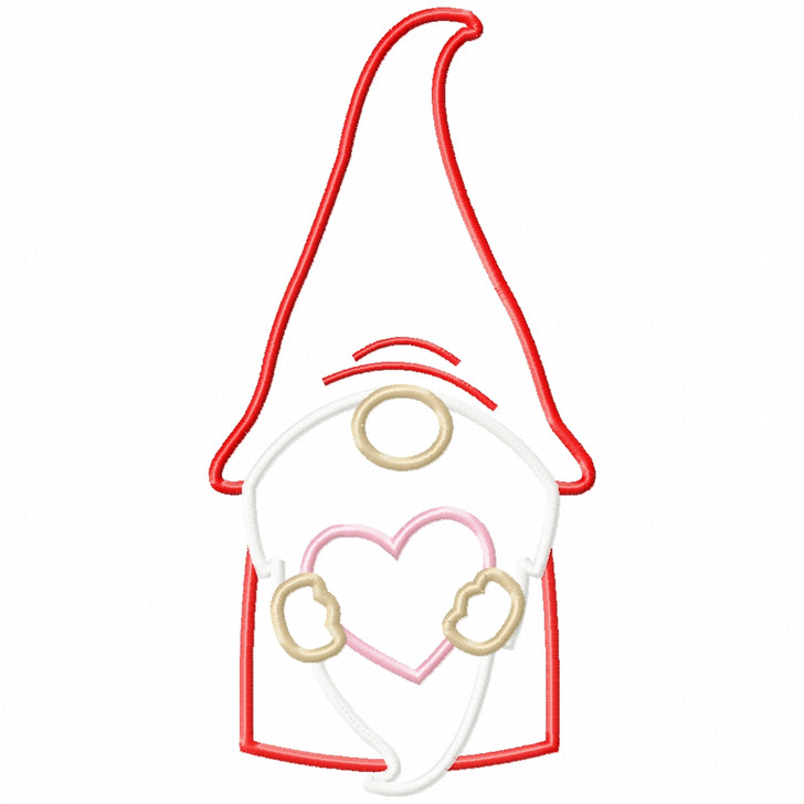 Gnome and Heart Satin and Zig Zag