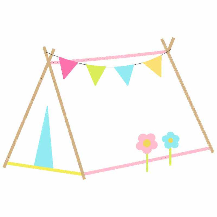 Sweet Tent Satin and Zigzag Applique