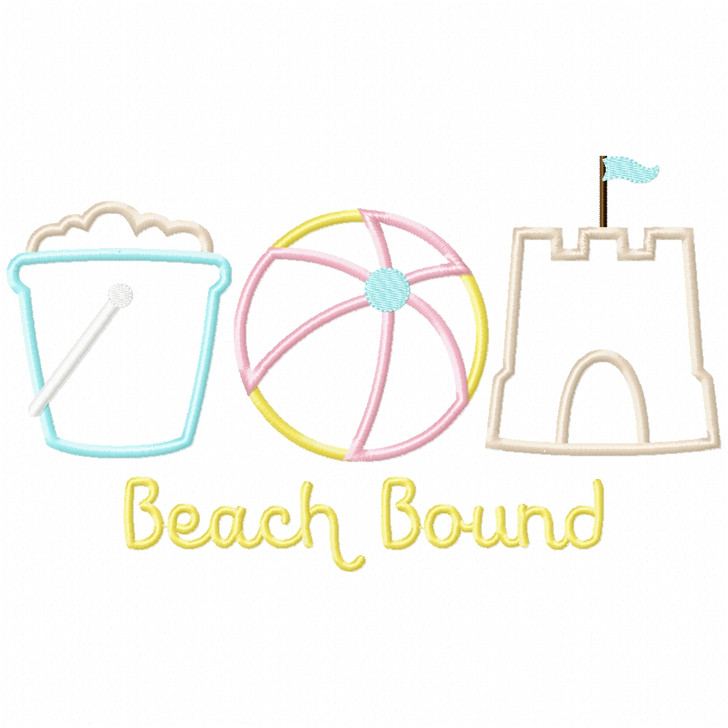 Beach Bound Satin and Zigzag Applique