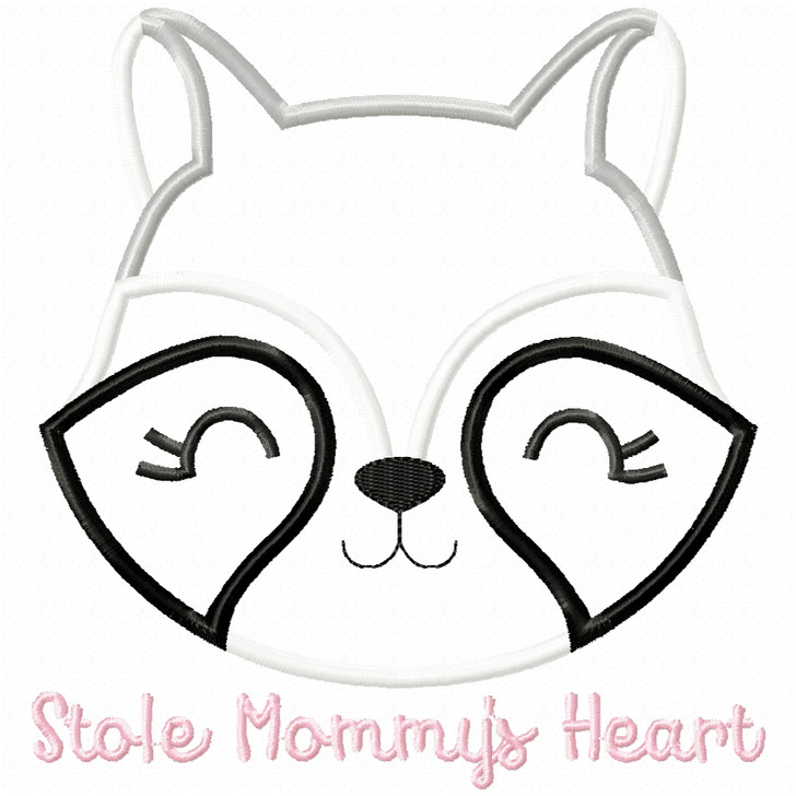Stole Mommys Heart Satin and Zigzag Applique