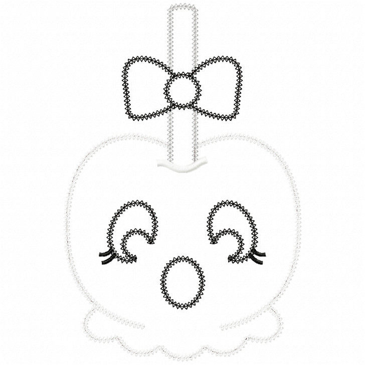 Girly Ghost Candy Apple Vintage and Chain Applique