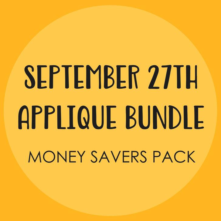 Sept 27th 2020 Applique Bundle