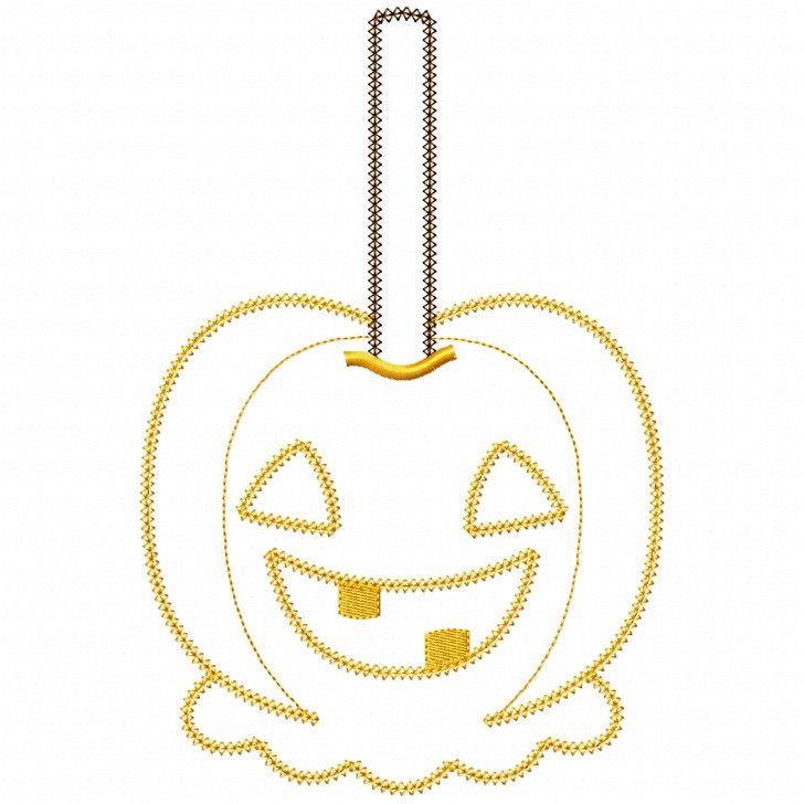 Jack O Lantern Candy Apple Vintage and Chain Applique