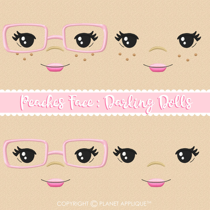 Peaches Face Styles For Darling Dolls