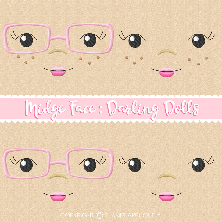 Midge Face Styles For Darling Dolls