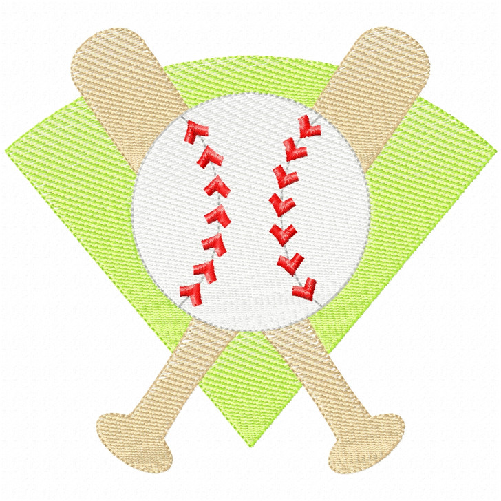 Baseball Montage Simple Stitch and Sketch Fill Applique