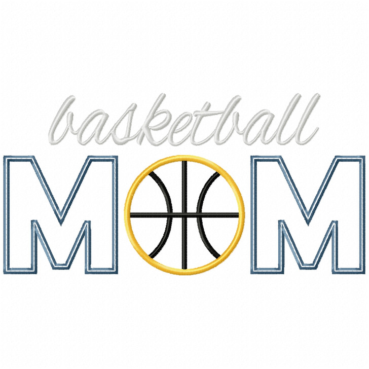 Basketball Mom Satin and Zigzag Applique