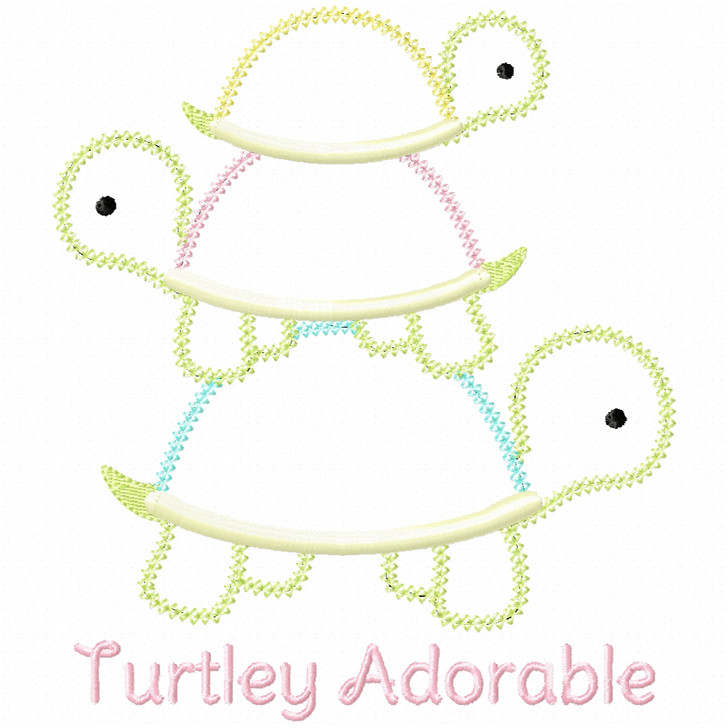 Turtley Adorable Vintage and Chain Applique