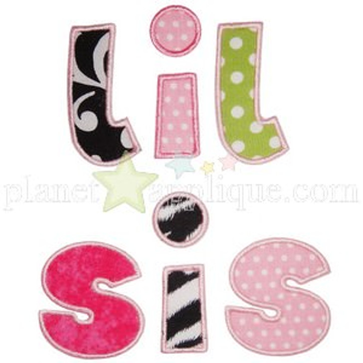 Sibling Sister Applique