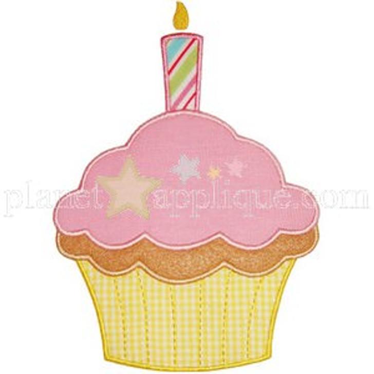 Birthday Cupcake Applique