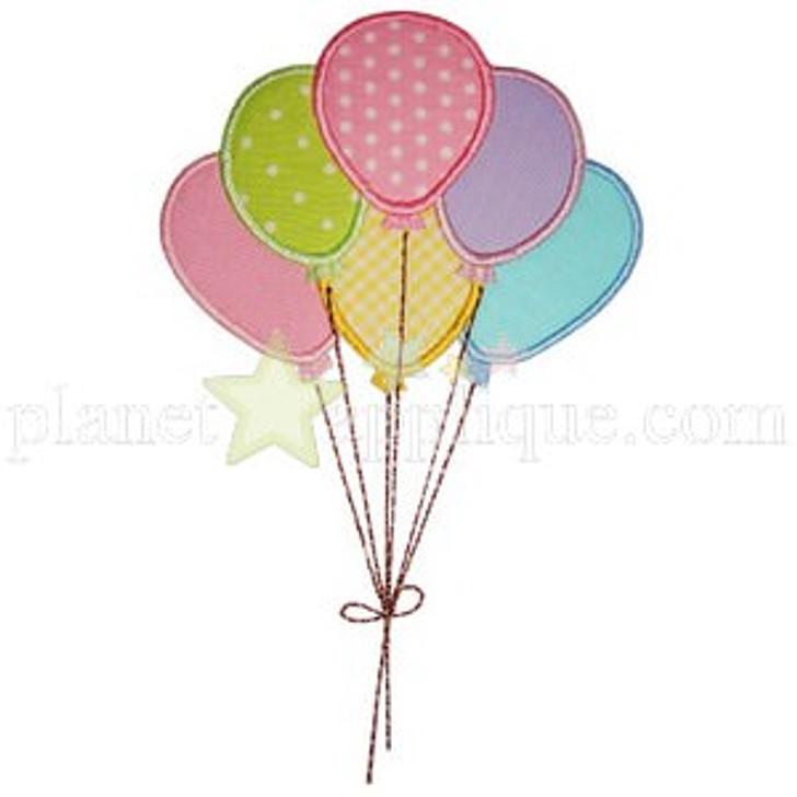 Birthday Balloons Applique