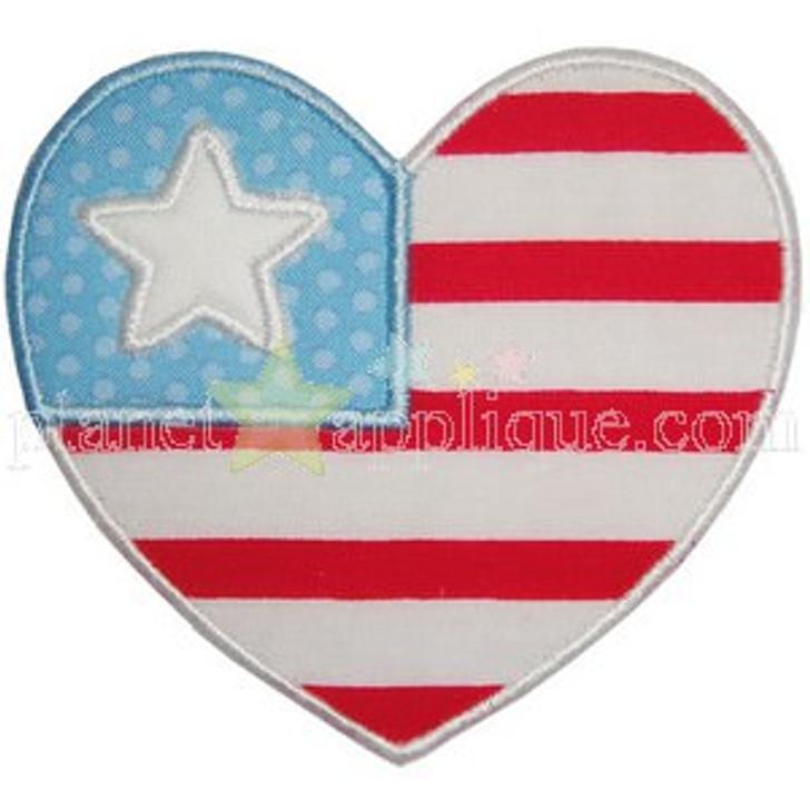Heart Flag Applique