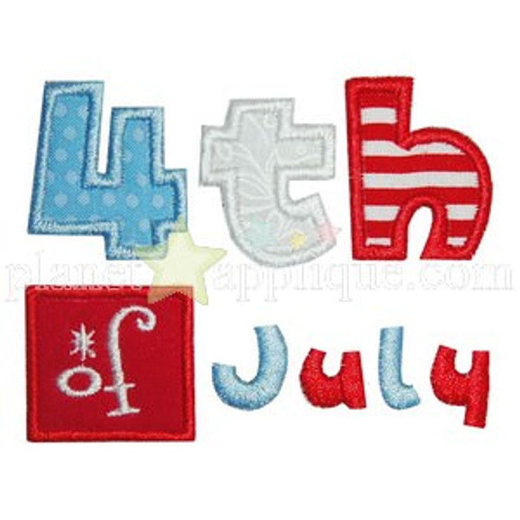 4th of July Applique