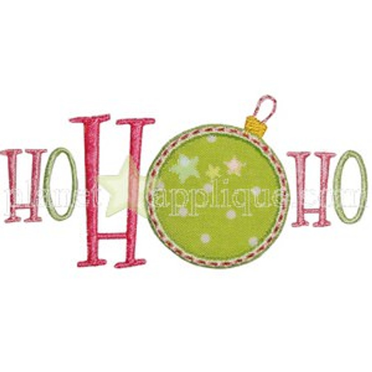 Ho Ho Ho Applique