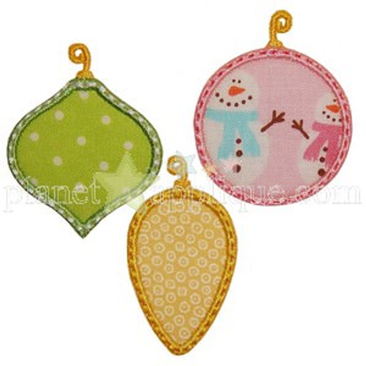 Three Ornaments Applique
