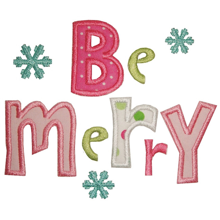 Be Merry Applique