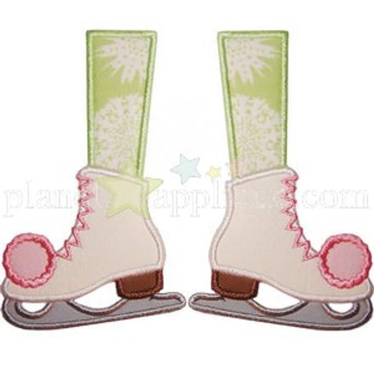 Ice Skate Feet Applique