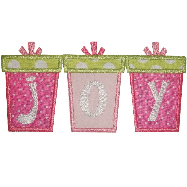 Joy Gifts Applique